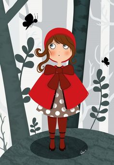Le petit chaperon rouge : Affiches, illustrations, posters par adora-illustrations                                                                                                                                                                                 Plus