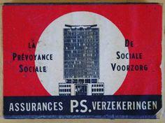 Assurances PS La Prévoyance Sociale - PS Verzekeringen De Sociale Voorzorg #vintage #matchbox #architecture