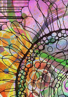 black line on watercolor Could try a zentangle on watercolor Organic Forms, Atelier D Art, Ecole Art, Design Graphique, Art Classroom, Art Journal Inspiration, Art Club, Art Plastique, Art Activities