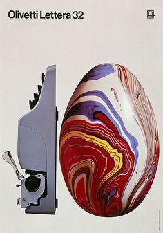 Olivetti Lettera 32 Poster by ninonbooks, via Flickr