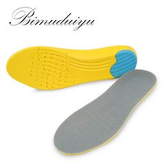 [Visit to Buy] BIMUDUIYU Women Men Shoes Pad Velvet + stretch PU Breathable Absorb Sweat Shockproof Silicone Running Basketball Insoles #Advertisement
