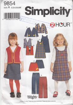 Toddler or Children's Sewing Pattern Pants Skirt by HoneymoonBus, $8.99