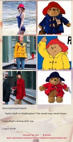 When she realised she'd been taking style tips from Paddington Bear. | 27 Times Taylor Swift Failed So Hard She Almost Won