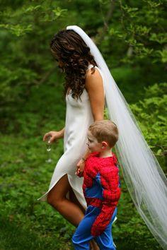 Spiderman ring bearer
