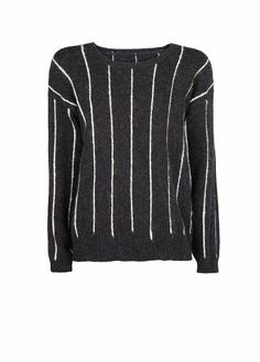 Pinstripe sweater from Mango