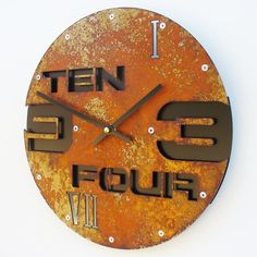 Outnumbered Circle II Rust w/ Back by All15Designs on Etsy, $56.00