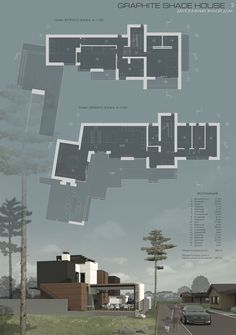 Shadow house made of graphite - Shadow house made of graphite, house - Presentation Board Design, Architecture Presentation Board, Architecture Board, Architecture Student, Architecture Drawings, Concept Architecture, Modern Architecture, Shade House, House Sketch