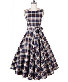 Women's Sleeveless Plaid Dress