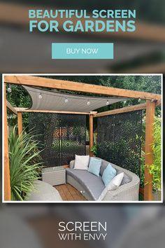 Small Backyard Patio, Outdoor Pergola, Outdoor Rooms, Outdoor Gardens, Small Garden Landscape, Garden Spaces, Back Garden Design, Patio Design, Patio Seating