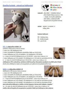 Ovečka | Návody na háčkované hračky