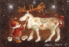 Risultati immagini per Katja Saario Elsa Beskow, Gnomes, Scandinavian Style, Moose Art, Christmas Ornaments, Holiday Decor, Artist, Animals, Albums