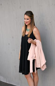Blush & Black - Blush Trench Coat with Black Slip Dress #LexWhatWear #styleblogger #fashionblog #casualstyle #springstyle #springfashion #springoutfit #spring #outfitideas #outfit #trends #nashvillestyle #nashvillefashion #nashvilleblogger