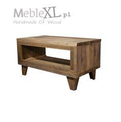 Retro stijl hoge salontafel van dikke (4,5cm) oude planken. Ook geschikt als tv meubel (50cm hoog)