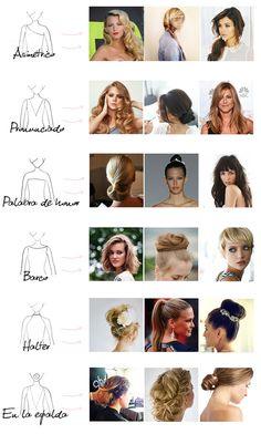 Peinados para tipos de escote Pronovias