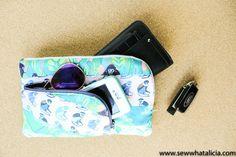 Wallet Clutch Zipper Pouch Tutorial