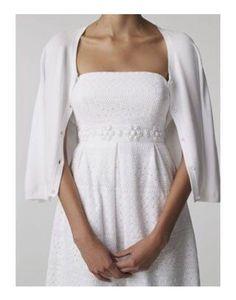 LILLY PULITZER Betsey White Eyelet Lace Beaded Strapless Beach Wedding Dress Sz4 #LillyPulitzer #BeachDressEmpireWaistTeaDress