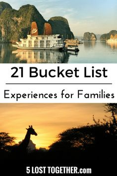 Family travel bucket
