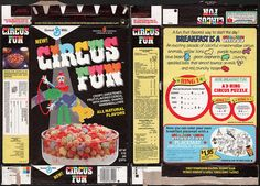 General mills cereal boxes | General Mills - Circus Fun cereal box - New! - 1986 | Flickr - Photo ...
