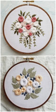 Embroidered flowers wedding bouquet peach/navy Have your wedding bouquet memorialized forever thorough custom embroidery by Through Rain or Shine. Available on Etsy! Computerized Embroidery Machine Price List In India Embroidery Designs Jeans Back Pocket. Embroidery Patterns Free, Hand Embroidery Stitches, Silk Ribbon Embroidery, Embroidery Hoop Art, Hand Embroidery Designs, Custom Embroidery, Embroidery Techniques, Cross Stitch Embroidery, Machine Embroidery