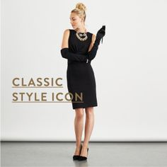 Channel the glamourous, cat-ladies of the world in this iconic look. Just throw on your favorite cocktail dress, grab a pair of black gloves & hop into classic black pumps. If you don't have gloves, you can forego them—just make sure you have a top-knot bun and some retro-glam makeup to tie it all together.
