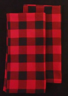 Small Buffalo Plaid Table Runners, Lumberjack Plaid, Christmas Plaid, Red U0026  Black