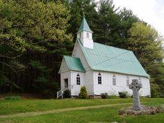 St John The Baptist Episcopal Church built in mid nineteenth century in Valle Crucis, North Carolina.