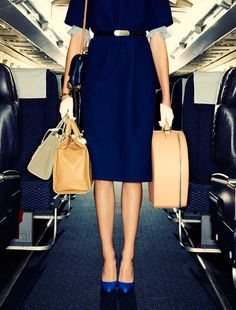 Stewardesses by Chris Craymer for Glamour UK