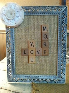 cute scrabble craft idea
