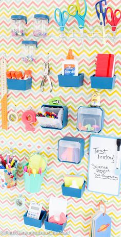 14 Fabulous Office Organization Ideas / Stylish Organization Ideas   High Style, High Function, Low Cost Workspace Ideas featured on Four Generations One Roof