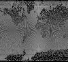From Tom MacWright on MapBox.com: Finally, a map design inspired by Joy Division and astrophysics: ds.io/y1owS6  /paging @Sha Hwang