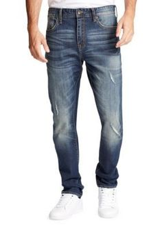 William Rast™ Men's Memphis Relaxed Fit Tapered Leg Jeans - Brigade Wash - 32 X 32