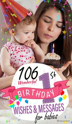 106 Wonderful Bi 106 Wonderful Birthday Wishes And Messages For Babies : First Birthday are special occasions that call for a celebration in a child's and family's life. Here is a list of beautiful and funny birthday wishes to convey them. Happy 1st Birthday Wishes, 1st Birthday Quotes, 1st Birthday Message, First Birthday Cards, Birthday Wishes Messages, Happy 1st Birthdays, Baby Girl Birthday, Birthday Parties, Baby Girl Messages
