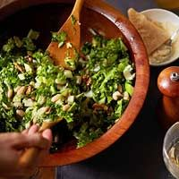 Green Salad with White Beans, Apples, and Walnuts - delicious! I make this with the butternut risotto.