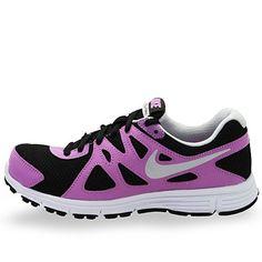 1b67ac204753 Girls Nike Revolution 2 Running Shoe Black Atomic Purple White Pure  Platinum on Sale