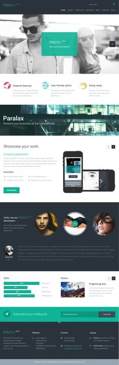 Macro.theme by entiri , via Behance