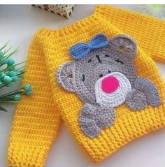 Crochet Baby Clothes Boy, Baby Girl Crochet, Crochet Baby Booties, Love Crochet, Knit Crochet, Crochet Baby Sweater Pattern, Baby Sweater Patterns, Crochet Poncho Patterns, Baby Knitting Patterns