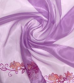 "Disney® Rapunzel Organza Fabric 56""-Purple Glitter Border"
