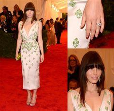 Jessica Biel at the Met...working the bangs!