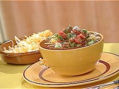 Veg-Head Three-Bean Chili recipe from Rachael Ray via Food Network