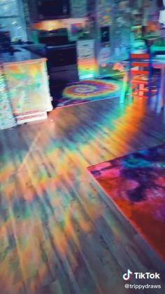 Rabbitgoo No Glue Static Decorative Privacy Window Films for Glass Non-Adhesive Heat Control Anti UV x inches Indie Room Decor, Cute Bedroom Decor, Room Design Bedroom, Aesthetic Room Decor, Room Ideas Bedroom, Neon Room Decor, Hippie Bedroom Decor, Hippie Bedrooms, Neon Bedroom