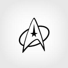 star trek silhouette star trek federation logo black vinyl car truck decal sticker door decs. Black Bedroom Furniture Sets. Home Design Ideas
