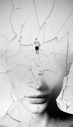 LINE Antonio Mora   The jagged, fractured lines that are over the image create a sense of disarray and lack of order. The photo clearly represents a break in a relationship (of some sort). Through the use of line, the image feels broken also.