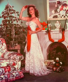 Susan Hayward in a decked-out living room...love it!  ♺ Kathy H