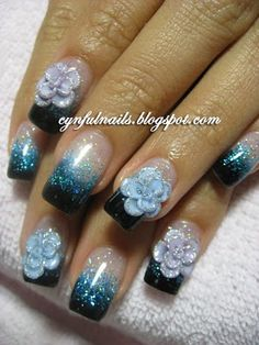 Gel nails!  All designs are done using gel colours and no nail polish is used