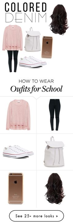 """""""School day!"""" by kaylab0805 on Polyvore featuring Converse and Aéropostale"""