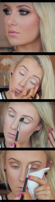 Makeup Tutorials for Blue Eyes -Ultimate Bronze Smokey Eye Tutorial -Easy Step By Step Beginners Guide for Natural Simple Looks, Looks With Blonde Hair Colour and Fair Skin, Smokey Looks and Looks for Prom https://www.thegoddess.com/makeup-tutorials-blue-eyes