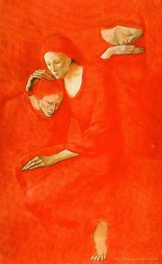 Montserrat Gudiol is what style artist Sgraffito, Figure Painting, Painting & Drawing, Picasso Blue, Spanish Artists, Red Art, Old Paintings, Gothic Art, Figurative Art
