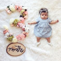 Month to month baby update #baby #monthtomonth #floral #girl #watchbabygrow