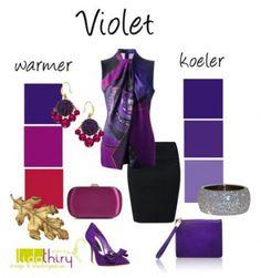 Violet is een kleur die we allemaal kennen, maar die we eerder 'paars' noemen. Lees hier hoe je naar paars kunt kijken, want paars kan koel en warm zijn.
