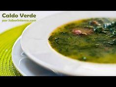 "Caldo Verde, Portugal (vídeo com receita por ""Sabor Intenso"") Portugal, Portuguese Recipes, Palak Paneer, Paleo, Yummy Food, Ethnic Recipes, Mad, Portuguese Food, Tailgate Desserts"